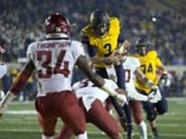 uc berkeley quarterback does cool 360 flip into end-zone