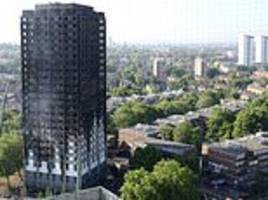 Work starts to cover charred remains of Grenfell Tower