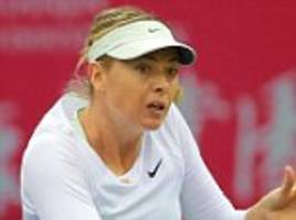 maria sharapova through to tianjin open final