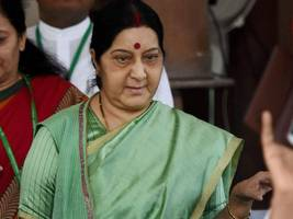 sushma swaraj rejects allegations of bjp being anti-woman party