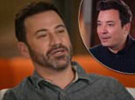 Fallon and Kimmel grapple with taking on Trump, Weinstein