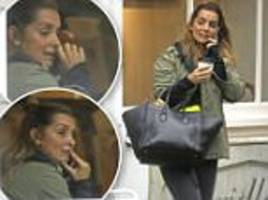louise redknapp appears emotional on the phone