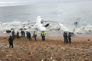 'Four dead' after plane crashes into sea after take-off in violent thunderstorm
