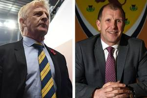 gordon strachan was binned by sfa for failing in two qualifying campaigns but stewart regan has survived four