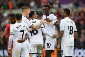 Swansea City 2 Huddersfield Town 0: Tammy Abraham at the double as Paul Clement's men pick up first home win