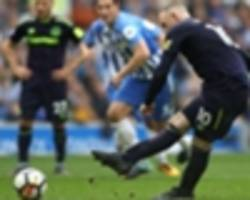 brighton and hove albion 1 everton 1: late rooney penalty fails to paper over visitors' woeful show