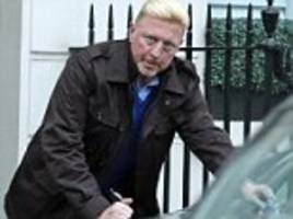 boris becker grimaces as he picks up £160 parking fine