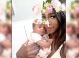 serena williams shares a photo of newborn daughter alexis