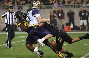 sun devils use strong defense to stun no. 5 huskies