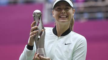 sharapova wins first title since drugs ban