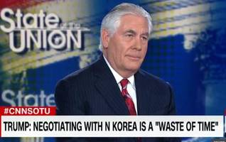 Tillerson: US Diplomacy With North Korea Will Continue Until The First Bomb Drops