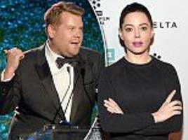 Rose McGowan slams James Corden for Harvey Weinstein jokes