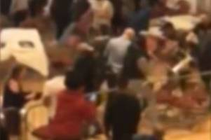watch: moment walsall boxing crowd riot by throwing chairs and glasses - caught on facebook live