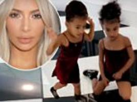 north west is seen dancing in kris jenner's mansion