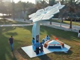 these smart palm trees in dubai can charge your phone and provide free wi-fi