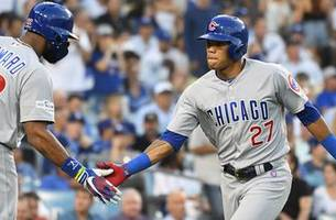 addison russell launches solo home run to break scoreless tie in game 2