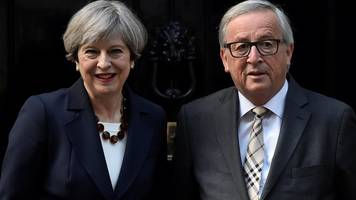 Theresa May to dine with EU chiefs amid Brexit 'deadlock'