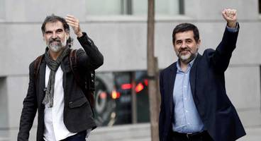 catalan independence movement furious after spain jails two leaders for possible sedition