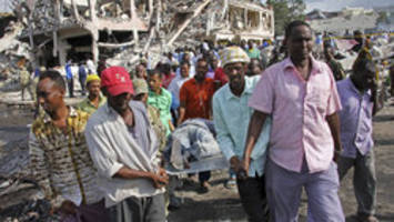 Somalia truck bombing death toll rises to over 300 as search for missing continues