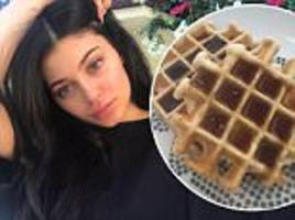 'pregnant' kylie jenner posts image of waffle breakfast