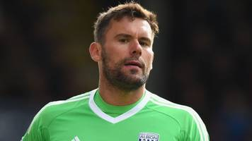 West Brom's Foster injured 'playing with son in garden'
