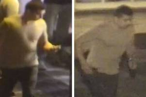 police release cctv images after man 'punched several times in the face' on bath street in frome town centre