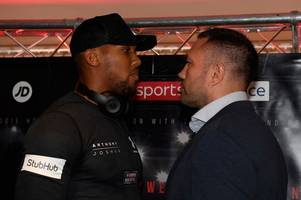 anthony joshua's world title defence in cardiff could be off