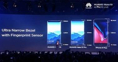 Huawei Mocks iPhone X, Samsung Galaxy S8 During Mate 10 Launch