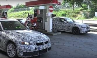 2019 BMW 3 Series Prototypes Spotted at Gas Station Before Nurburgring Testing