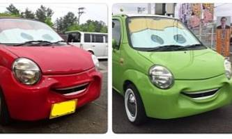 Small Suzukis Get Smile Bumper With Lightning McQueen's Face