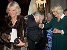 Duchess of Cornwall mingles with stars of the big screen