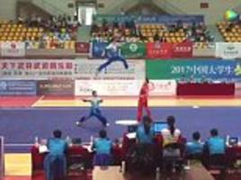 Students show incredible kicks and jump in Kung Fu contest