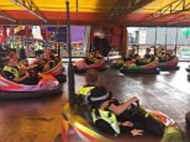 Fury as police officers ride dodgems on duty at Hull Fair
