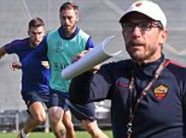 roma stars train ahead of chelsea champions league clash