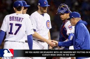 did joe maddon think the cubs were going to lose game 2 to the dodgers?