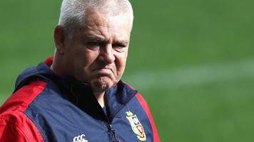 warren gatland 'done' with british & irish lions and will not lead south africa tour