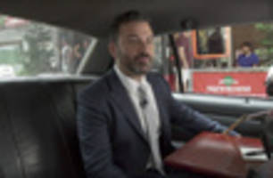 Video: Jimmy Kimmel Takes Taxi Ride Around Brooklyn To Kick Off NYC Shows