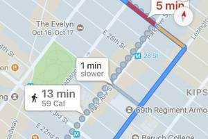 Google Maps will remove the mini cupcake calorie counter from its iOS apps