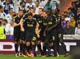 real madrid 1-1 tottenham: spurs withstand heavy pressure