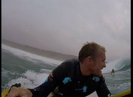 Watch Devon surfer Andrew Cotton tackle Hurricane Ophelia's waves in Portugal