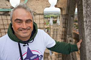 smooth radio's gareth evans faced his fear of heights to raise money for local charities