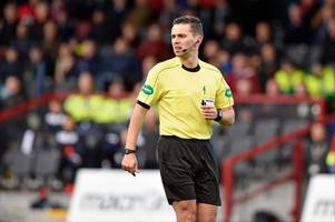 hibs v hearts referee confirmed as andrew dallas prepares to take charge of his first edinburgh derby