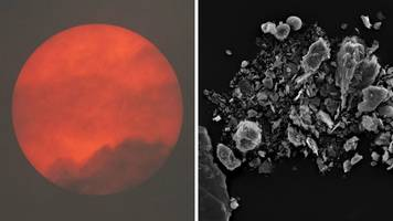 red sun phenomenon 'caused by saharan dust', analysis shows