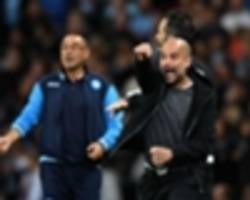 Manchester City can win Champions League, says Napoli boss Sarri