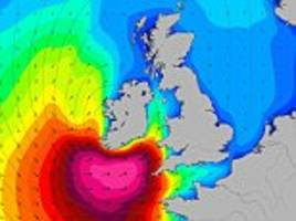 waves up to 34 feet high set to smash into britain