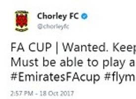 Chorley appeal for new players on Twitter ahead of FA Cup