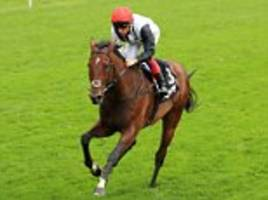 frankie dettori doing a raindance for the champion stakes