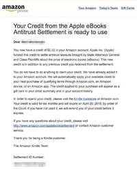 check your email: amazon is sending customers even more free credits from apple's legal battle (aapl, amzn)