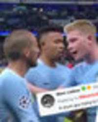 Man City's David Silva and Kevin De Bruyne mocked for argument during Champions League win