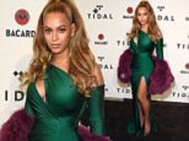beyonce steps out for tidal's annual benefit concert in ny